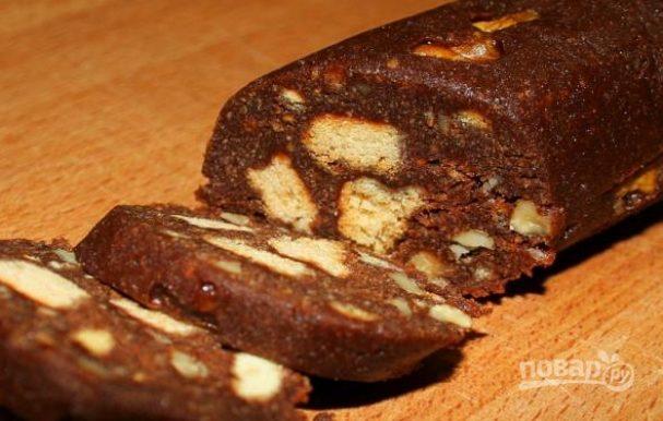"quotkolbaskaquot iz pechenya s kakao 358091 - ""Sausage"" biscuit with cocoa"