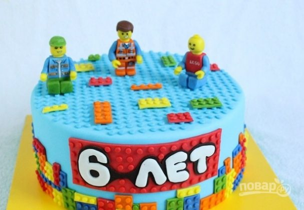 tort s chelovechkami quotlegoquot 401436 - Cake with little LEGO