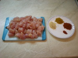 Chicken Shawarma - Photo Step 1.