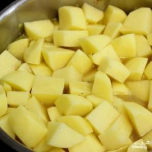 Етпен бұқтырылған картоп - фото 4-қадам