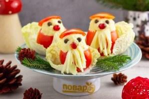 """Фаршированные помидоры """"Дед мороз"""" - фото шаг 5"""