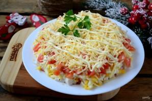 Слоеный салат с крабовыми палочками (вкусно и просто) - фото шаг 6
