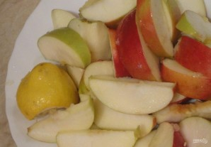 Jul gås med äpplen - Foto Steg 9