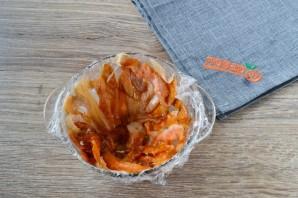 Закусочный торт с крабовой начинкой - фото шаг 4