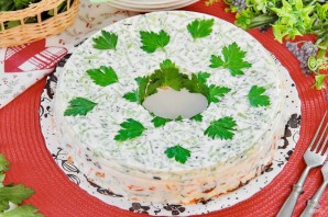 Салат желейный, слоеный - фото шаг 13