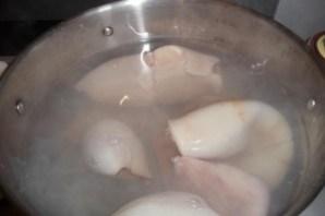 Кальмары в сливочном соусе - фото шаг 2