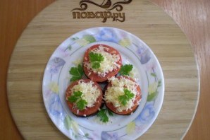 Жареные баклажаны с помидорами и сыром - фото шаг 9