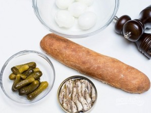 جوانه ها و ساندویچ های خیار نمک - عکس مرحله 1