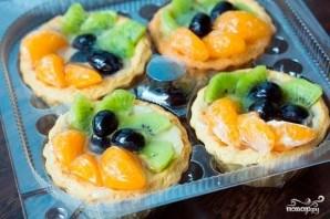 Корзиночки с фруктами и кремом - фото шаг 10
