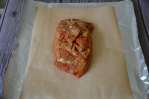 Pork skinke bakt i ovnen i folie - Foto Trinn 5