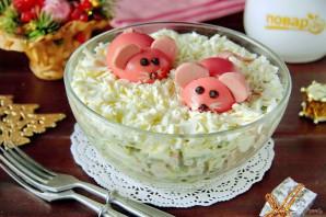 Салат на Год Крысы из вареной колбасы - фото шаг 10