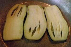 Рулетики из баклажанов с корейской морковкой - фото шаг 3