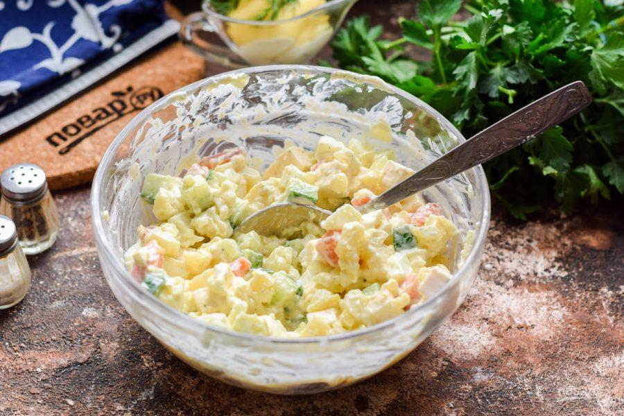 Салат из рыбы копченой