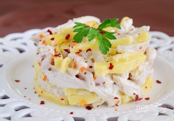Вкусный рецепт салата из кальмаров
