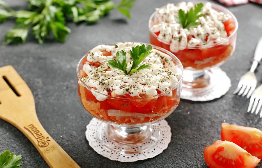 Салат из помидоров и моркови