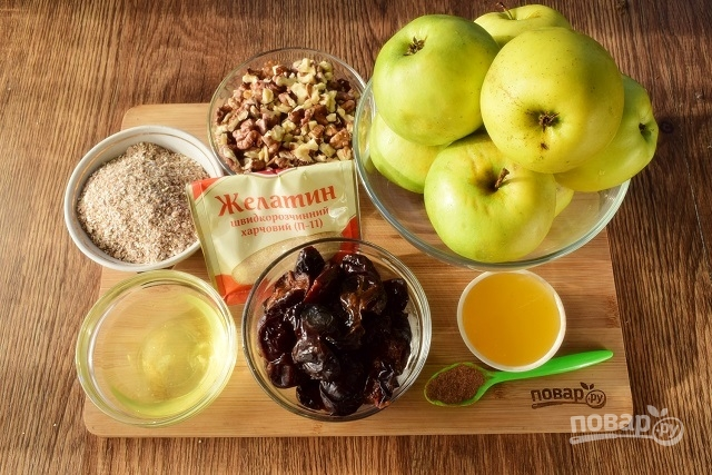 Диетический яблочный торт без выпечки