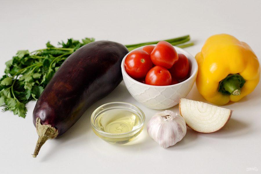 Грузинский салат с баклажанами