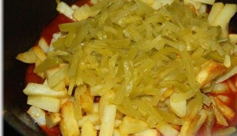 Азу по-татарски с говядиной