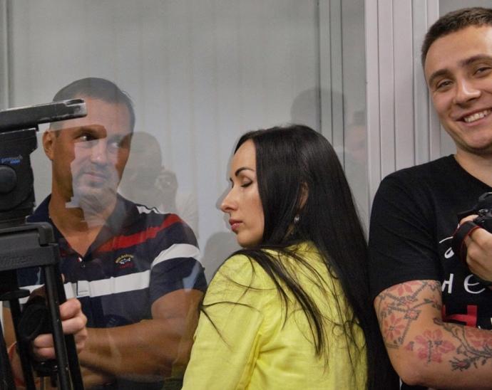 Зліва направо: Головін, його дружина та націоналіст Сергій Стерненко