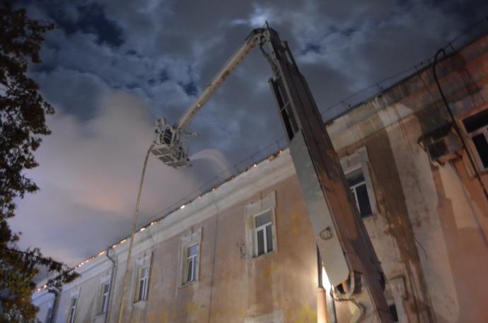 Пожежа у Луцькому військовому госпіталі