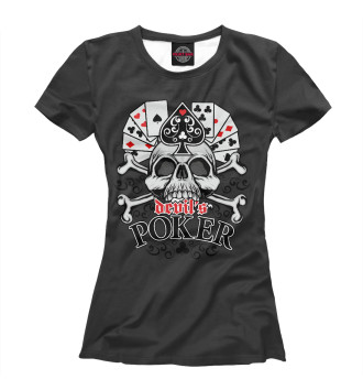 Женская Футболка Poker