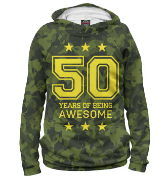 Женское Худи 50 Years of Being Awesome