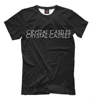 Мужская Футболка Crystal Castles Logo