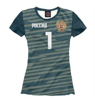 Женская Футболка Номер 1 АКИНФЕЕВ. Надписи на русском!