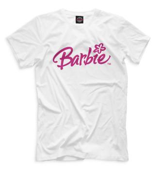 Мужская Футболка Надпись Barbie