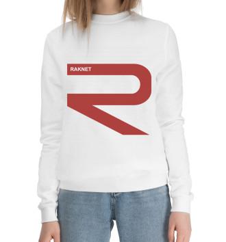 Женский Хлопковый свитшот RAKNET ORIGINAL WHITE