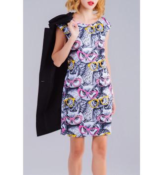 Женское Платье без рукавов Совы