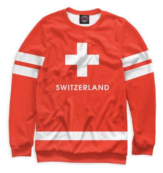 Мужской Свитшот Сборная Швейцарии