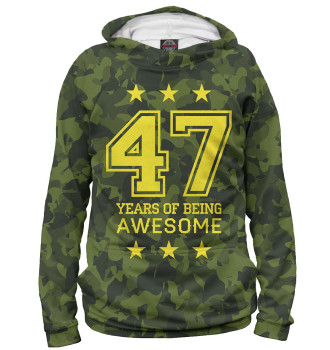 Женское Худи 47 Years of Being Awesome