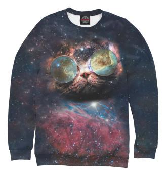 Женский Свитшот Космический кот