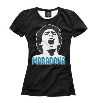 Женская Футболка Марадона