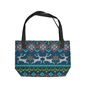 Пляжная сумка Свитер с оленями
