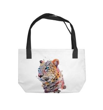 Пляжная сумка Цветной Леопард