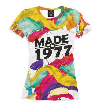 Женская Футболка Made in 1977