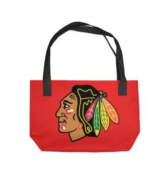 Пляжная сумка Чикаго Блэкхокс