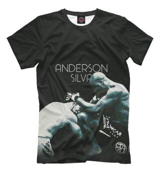 Мужская Футболка Anderson Silva - Knee Kick