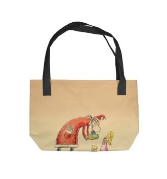 Пляжная сумка Санта