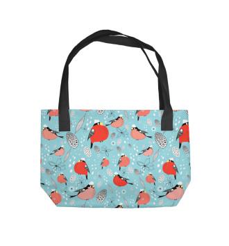 Пляжная сумка Снегири