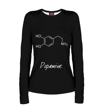 Женский Лонгслив Химия Дофамин