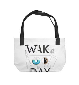 Пляжная сумка Say wake up day