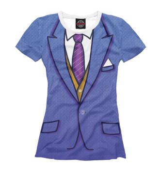 Женская Футболка Синий костюм