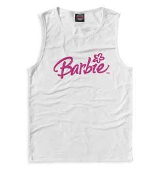 Мужская Майка Надпись Barbie