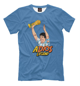 Мужская Футболка Adios Legend