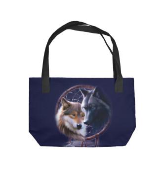Пляжная сумка Волки