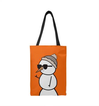 Сумка-шоппер Крутой снеговик