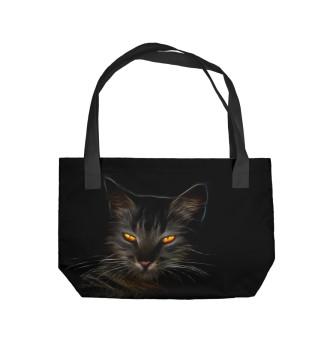 Пляжная сумка таинственный кот